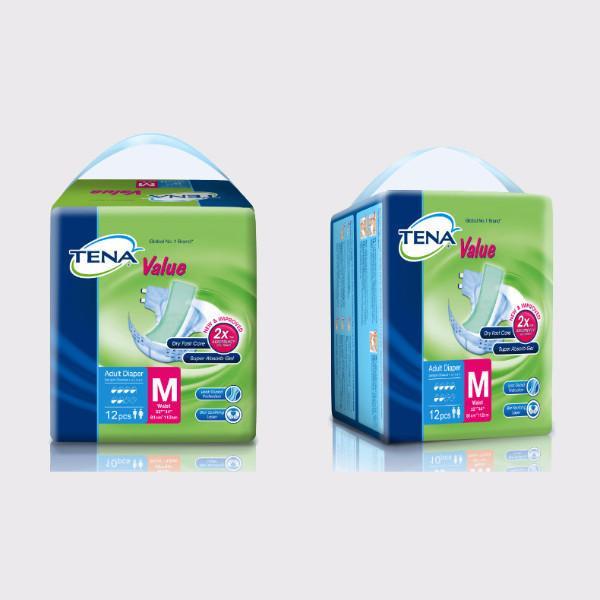 CMS 1141 - Adult Diapers (Tena Value), Medium