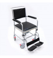 CMS 1002 - Commode Chair, Powder Coated Steel Commode with 4 Lock