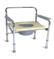 CMS 1005 - Commode Chair, Foldable, Height Adjustable, Stationary
