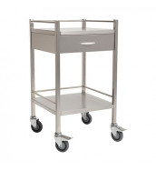 CMS 1022 - Stainless Steel Dressing Trolley with One Drawer