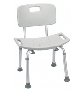 CMS 1011 - Shower Chair Aluminium with Back Rest