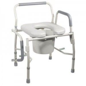 CMS 1004 - Commode Aluminium, U-Shaped Padded Seat with Backrest