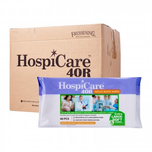 CMS 1144 - Adult Wipes Ultra Soft (Hospicare), 40 Pc/Pack